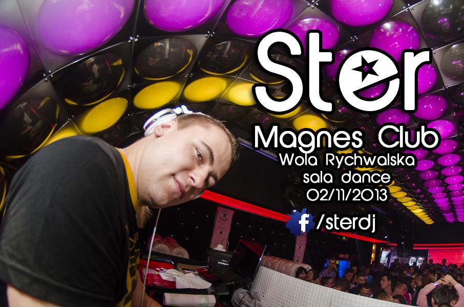Magnes Club Wola Rychwalska- DJ STER (02.11.2013) sala dance